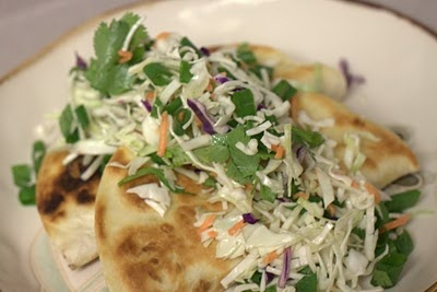 Crispy Black Bean and Feta Tacos with Cabbage Confetti...I LOVE these ...
