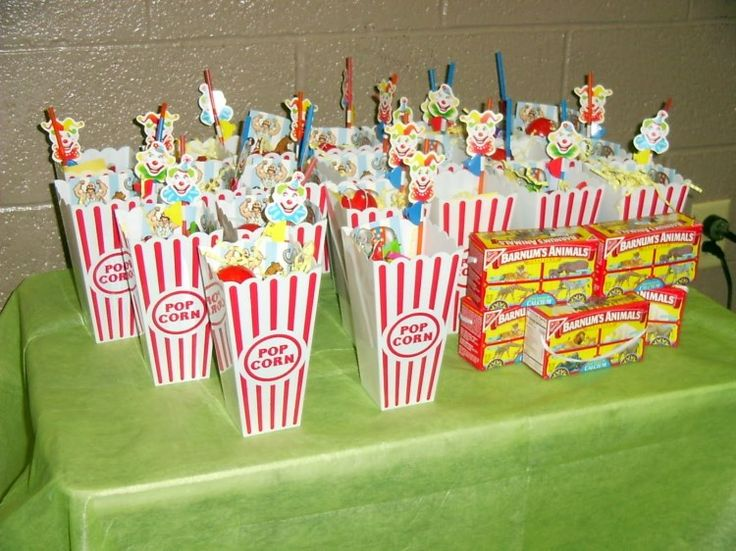 Popcorn Goody Bags Carnival Circus Party Pinterest