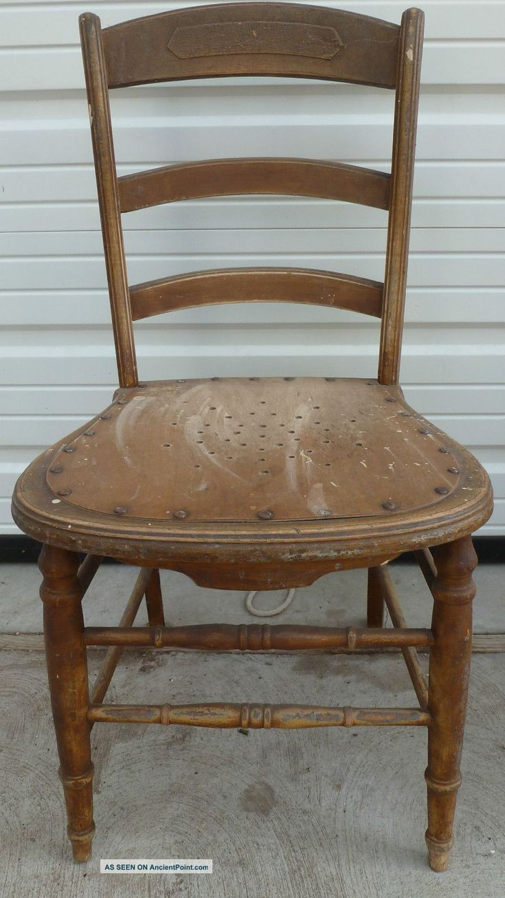 Antique wooden chairs antique solid wood chair 34 quot t x17 5 quot