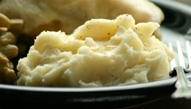 Mashed Potatoes With Creme Fraiche and Chives. Photo by Wildflour