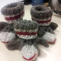 Knitting Pattern For Sock Monkey Booties : Pin by Karen Cuddlecat Schulz on Look at THIS!! Pinterest