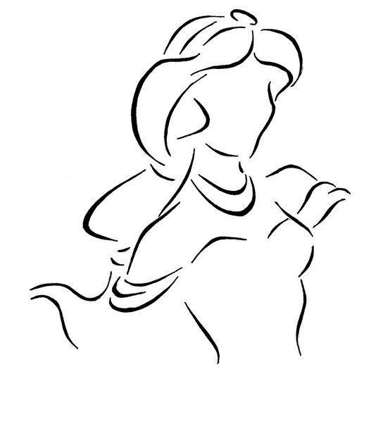 Jasmine Simple Sketch Aladdin Disney Pinterest Disney Princess Outlines