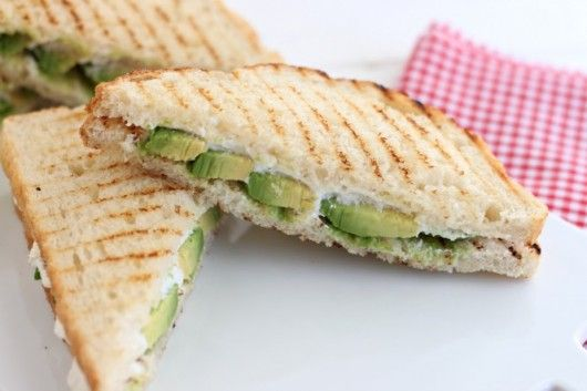 grilled goat cheese and avocado sandwiches