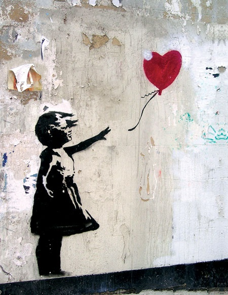 banksy balloon girl art pinterest. Black Bedroom Furniture Sets. Home Design Ideas