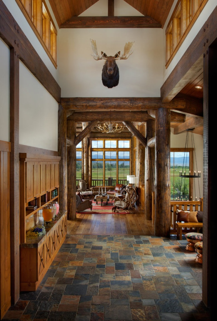 log cabin home interior  Future House!  Pinterest