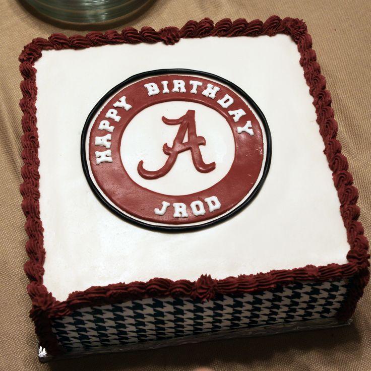 University Of Alabama Crimson Tide Birthday Cake