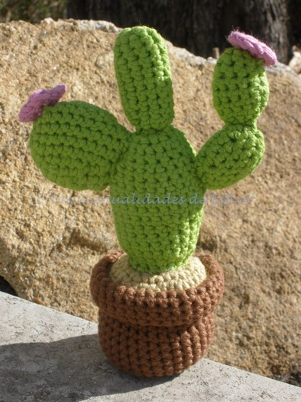 Amigurumi Cactus nopal Amigurumis Pinterest