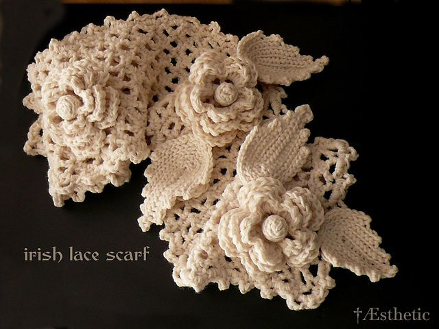 Irish Lace Scarf pattern Yarn Barn Pinterest