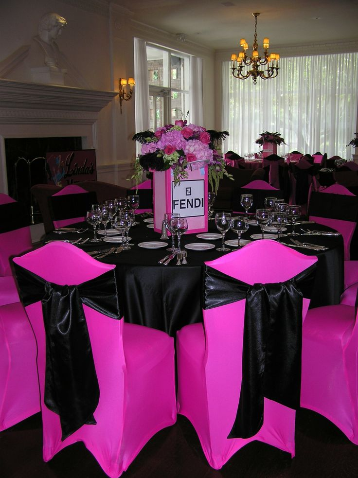 Hot Pink Black White Bridal Shower Decorations Drive