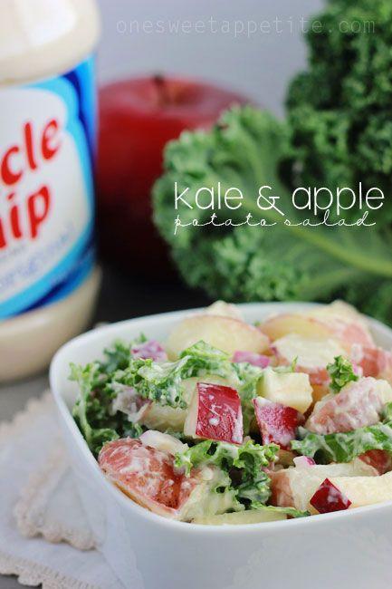 Kale and Apple potato salad.   The Salad Bar   Pinterest