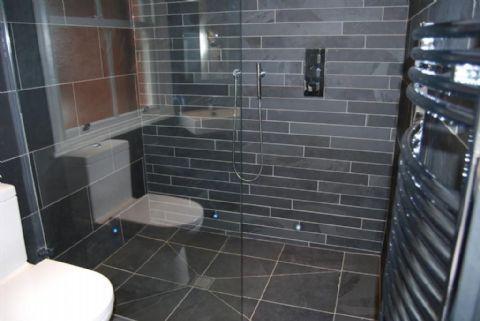 brazilian black slate floor tile badezimmer black white pintere