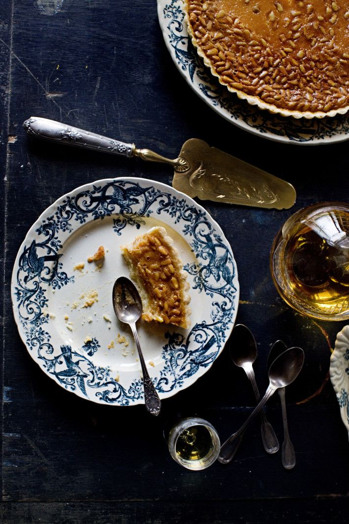 Pine nut and lemon ricotta cream tart | food + drink | Pinterest