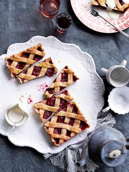 Rhubarb and Raspberry Crostata - his version of crostata di marmelleta ...
