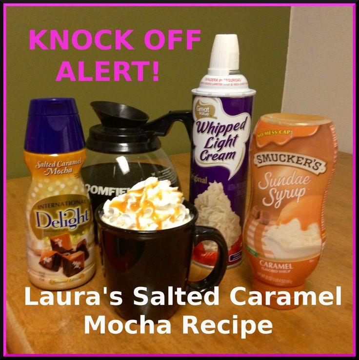 Laura's Salted caramel Mocha   FOOD – Copycat Recipes   Pinterest