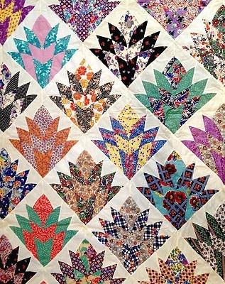Quilt pattern cleopatra s fan 1930s depression era ebay quilts