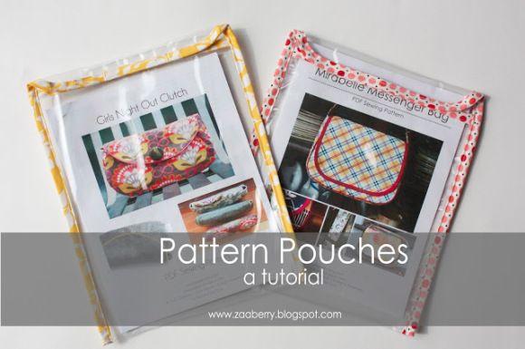 fashion jewerly pattern pouches for pdf pattern storage  sewing