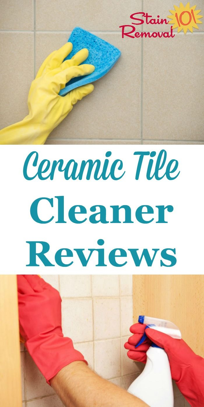 Ceramic tile cleaner