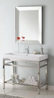 Bathroom Vanity on Simple Single  40 Inch Single Sink Console Bathroom Vanity With Choice