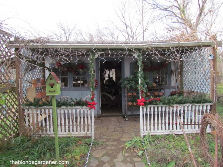 Garden Shed decorated for Christmas Well shedGarden