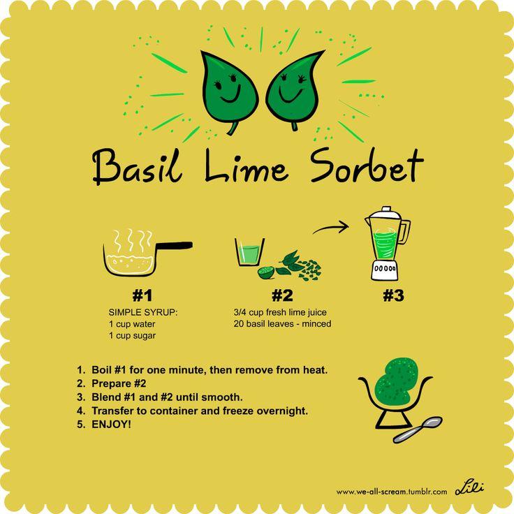 Basil Lime Sorbet | Recipes - Ice Cream | Pinterest