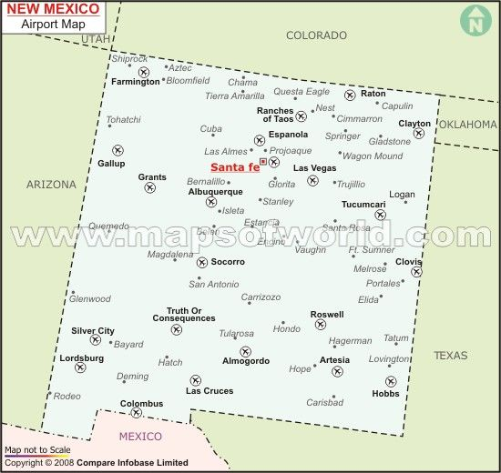 New Mexico Airports  Maps And Geography  Pinterest