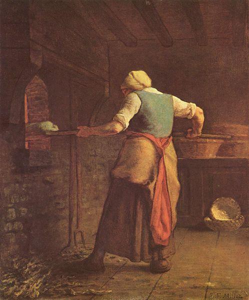 La panadera (1854), obra de   Jean-François Millet