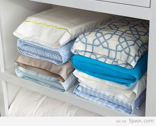 Use pillowcases to store sheets, so you always have a matching set.
