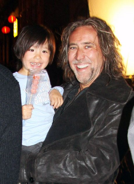 1starfr picture of alice kim with her son kal-el coppola cage that