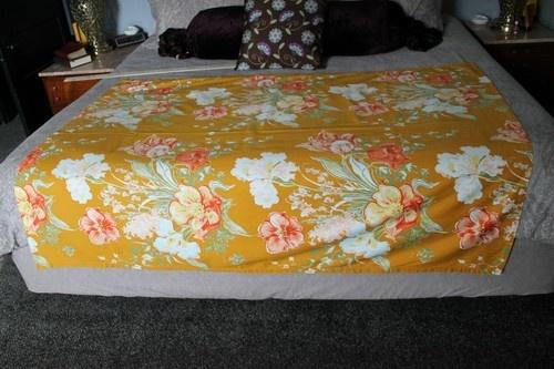 Vintage Barkcloth Curtain Panel 51 x 64 Floral Pattern | eBay