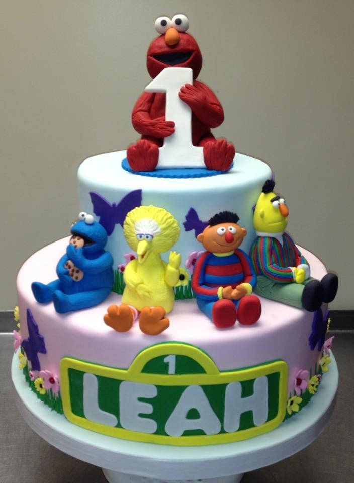 Sesame Street First Birthday Cake  Cakes - Sesame Street  Pinterest