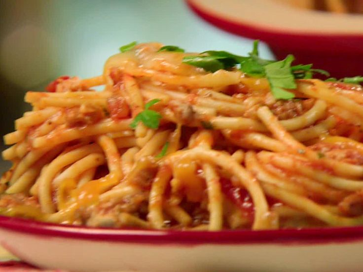 Dora's Baked Spaghetti from FoodNetwork.com.I am Making this for ...