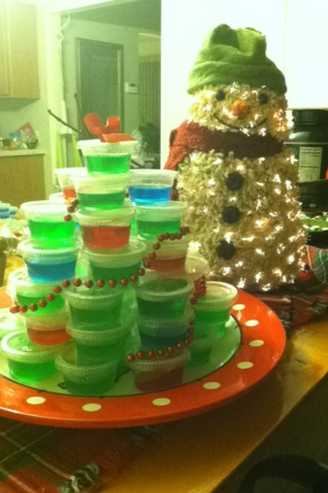 Jell-O shot Christmas tree | MERRY CHRISTMAS....BEST TIME ...