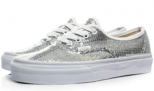Glitter dot Vans.