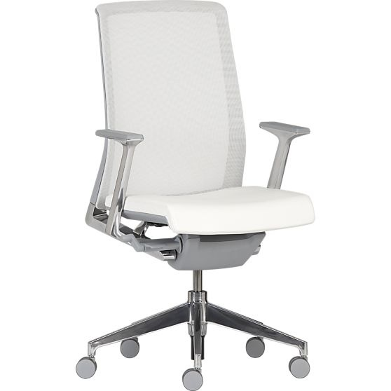 Haworth Very White Task Chair In Office Chairs Crate And Barrel