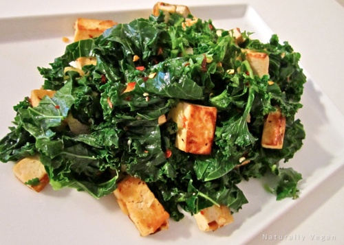 Spicy Stir-Fried Tofu With Kale And Red Pepper Recipe — Dishmaps