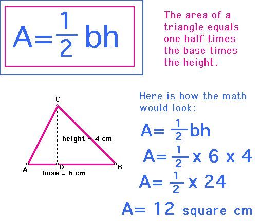 how to work out height if triangle