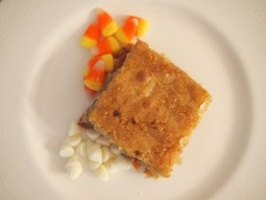 White Chocolate Candy Corn Blondies | Candy Corn Day | Oct. 30th | Pi ...