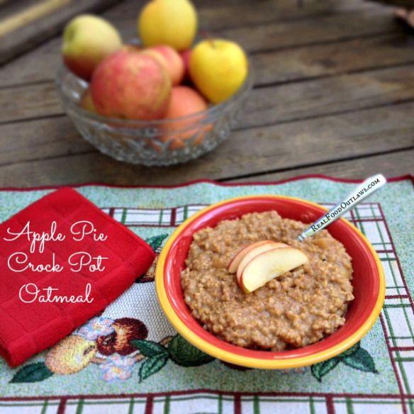 Apple Pie Crock Pot Oatmeal | Yummy! Snacks & Sweets | Pinterest