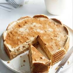 Yogurt tiramisu waffles with syrup | Food | Pinterest