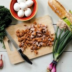 Kale + Chicken Sausage Strata | Breakfast goodies | Pinterest