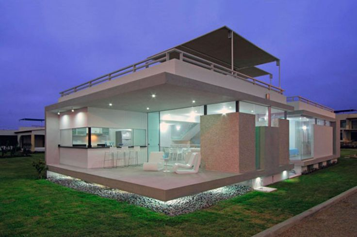 Simple beach house named casa viva luxu beautiful house for Simple beach homes