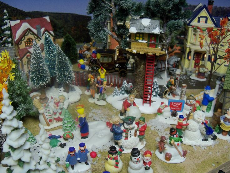 Scene from my Christmas village | My Christmas Village | Pinterest