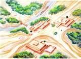 64 - En las inmediaciones se encontraba el Templo Puma Inti, en terrenos que hoy ocupa la Catedral. Inmediatamente después de fundar la capital, Pizarro trazó la ciudad en el plano que fue diseñado por Diego de Agüero, quien dividió la nueva cuidad en 117 manzanas, cada manzana tenía cuatro solares. Estuvieron presentes, firmando como testigos, el tesorero Alfonso Riquelme, el veedor García de Salcedo, Rodrigo de Mazuelos, Ruy Díaz, Juan Tello y Domingo de la Presa.