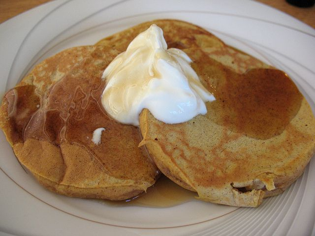 Celebrate Fat Tuesday with Pumpkin Pie Pancakes from Scattered Mom