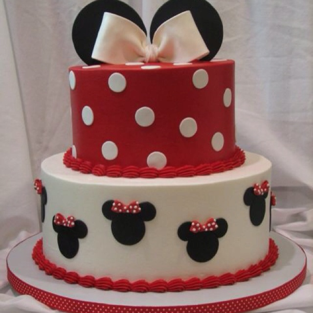 Minnie mouse fondant birthday cake. Cute Cakes Pinterest