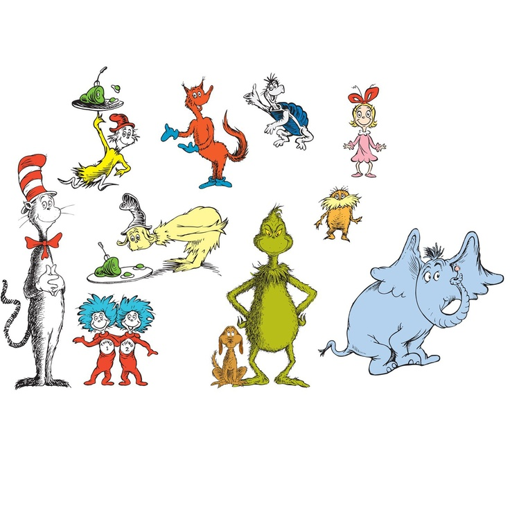 dr seuss removable wall decorations