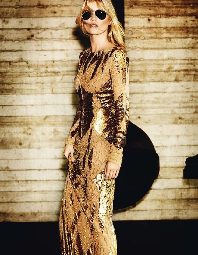 Kate Moss, by Mario Testino, for Vogue Paris October 2012