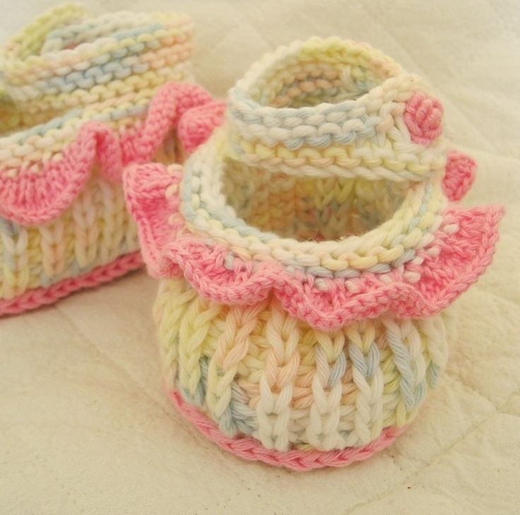 Easy Baby Bootie Knitting Pattern Image Collections Knitting
