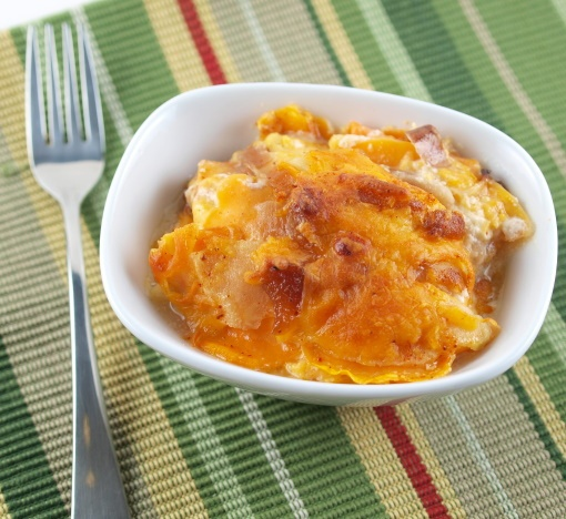 Sweet Potato, Apple, and Caramelized Onion Gratin by EvilShenanigans ...
