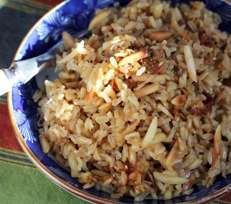 Brown rice almond pilaf | Side Dishes | Pinterest